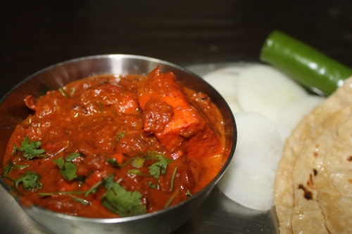 Paneer Butter Masala  (Cottage Cheese cooked in tomato onion base)